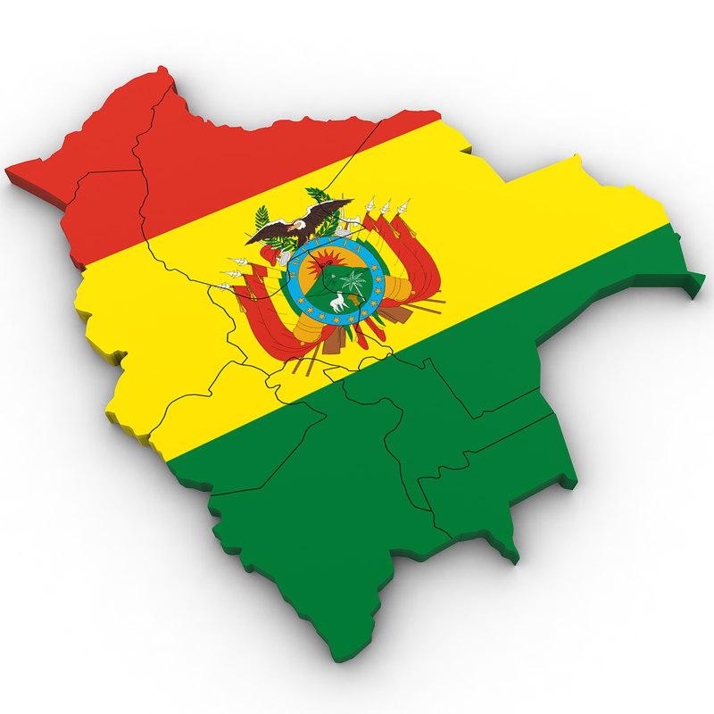 3D bolivia country