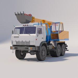 3D kamaz excavators planners model