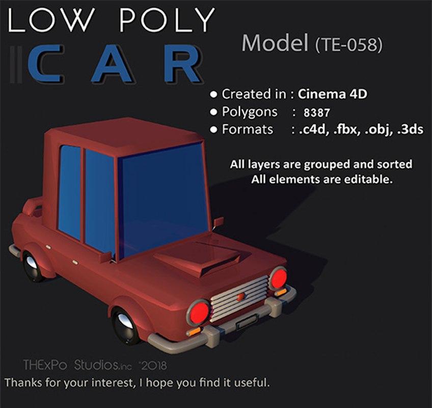 3D te-058 car c