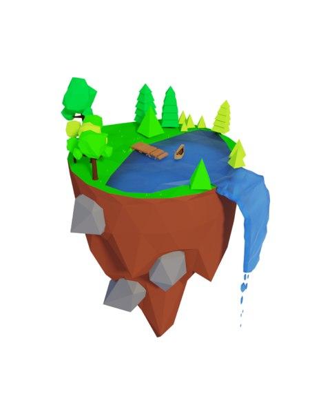 3D model island trees