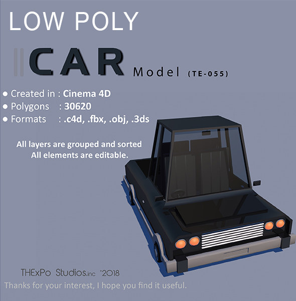 car p 3D
