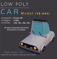 Low Poly Car || Model TE-043