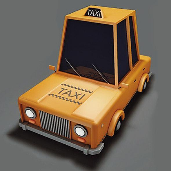 3D model taxi t