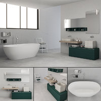 3D bathroom furniture set la model