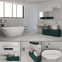 3D bathroom furniture set la model