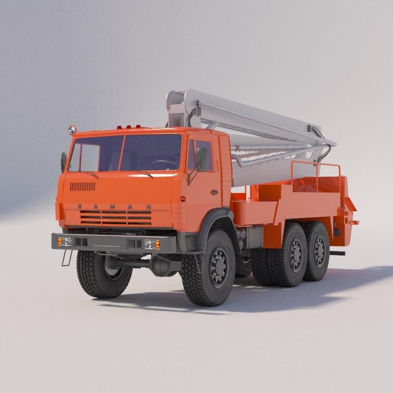 auto concrete pump 3D