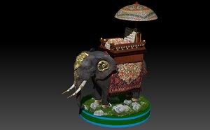 3D model realistic elephant