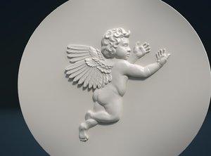 cherub relief model