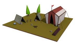 medieval camp 3D