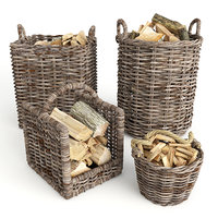Baskets With Firewood