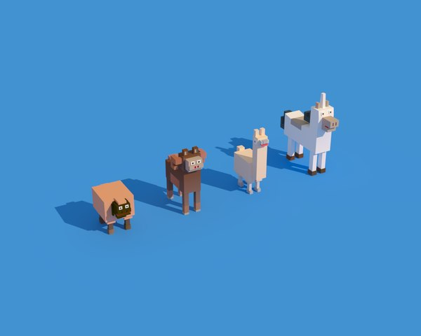 3D model animals ready games