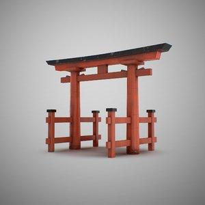 3D japan gate