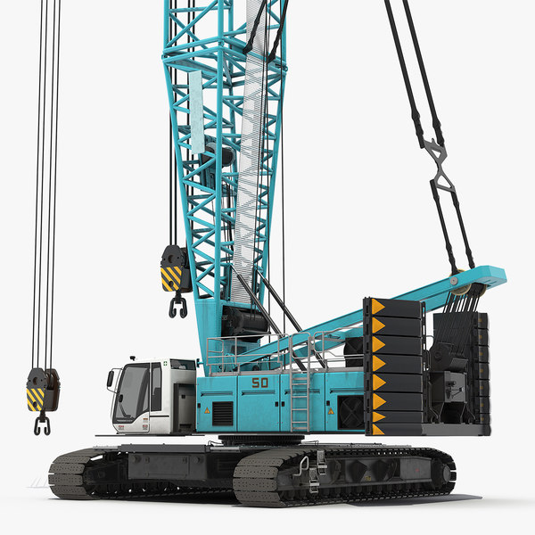 3D crawler crane generic rigged