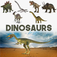 Dinosaurs 3D Models Collection 2