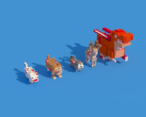 3D zombie animals crossy road