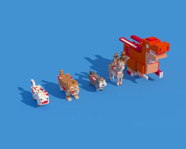 3D zombie animals crossy road