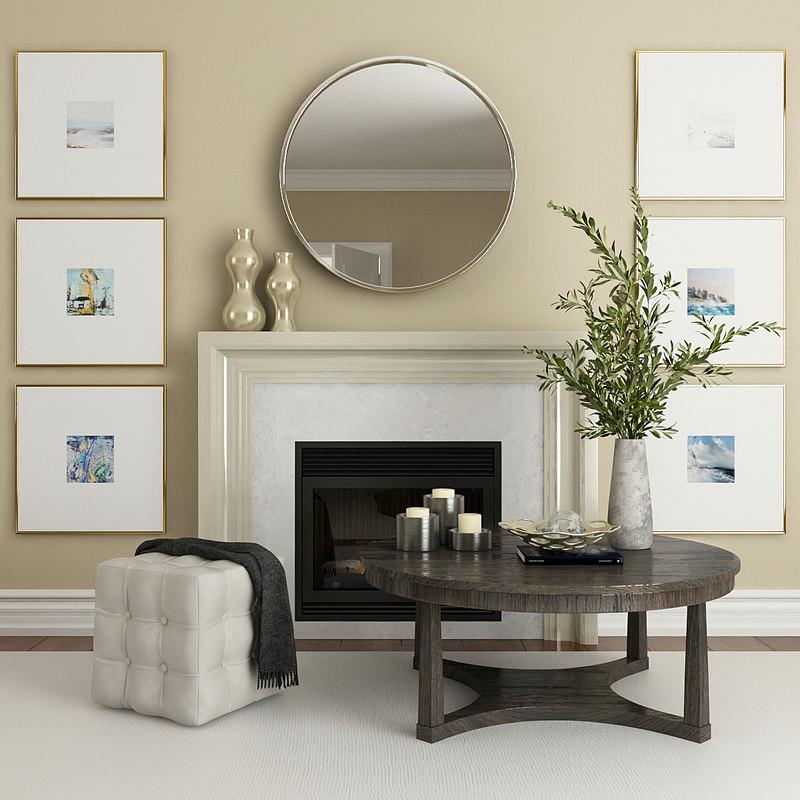 fireplace decor 3D