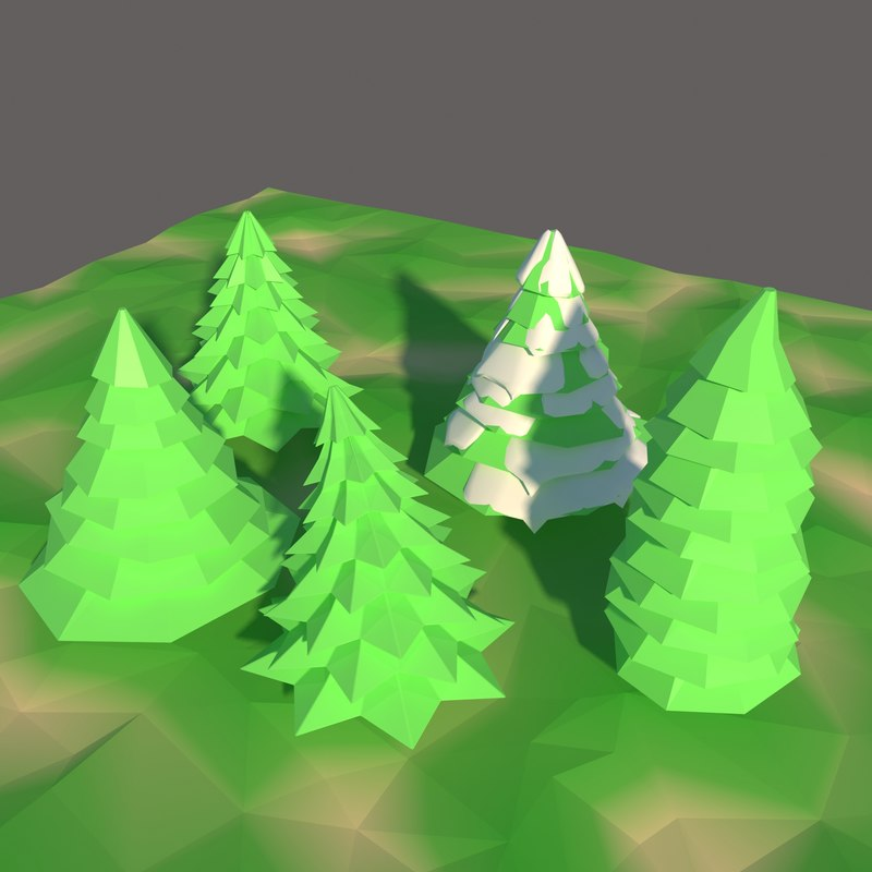 pine tree pack 3D model