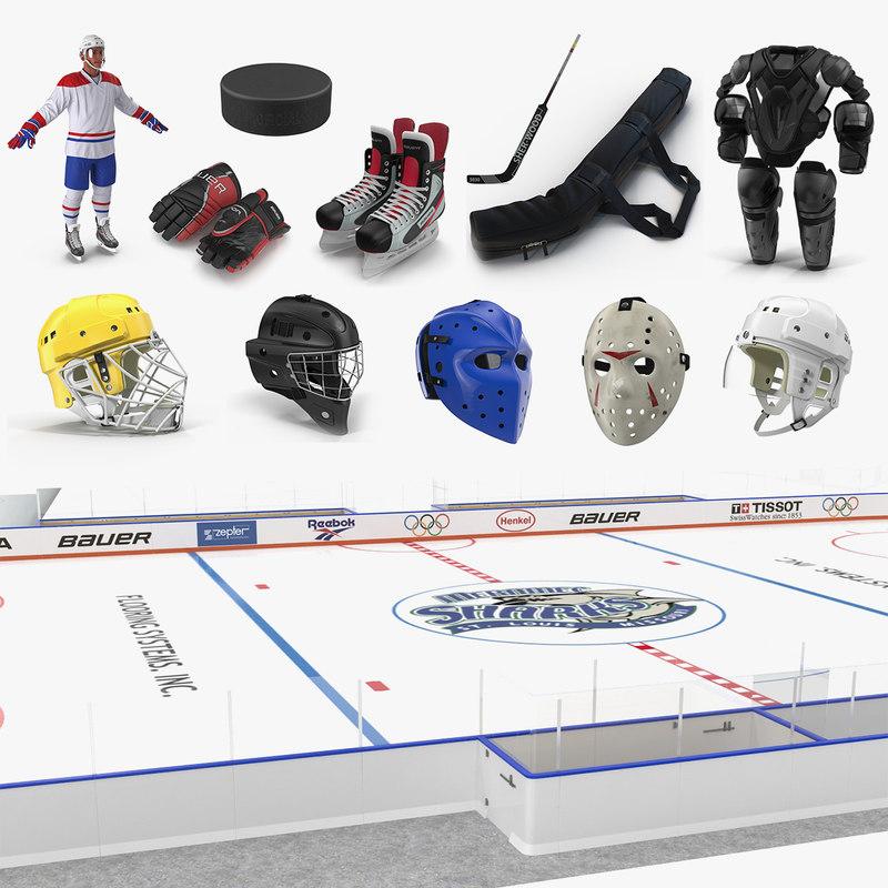 hockey 2 3D model