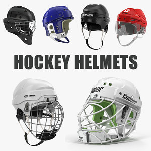 3D model hockey helmets 2