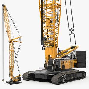 liebherr lr1250 crawler crane 3D model