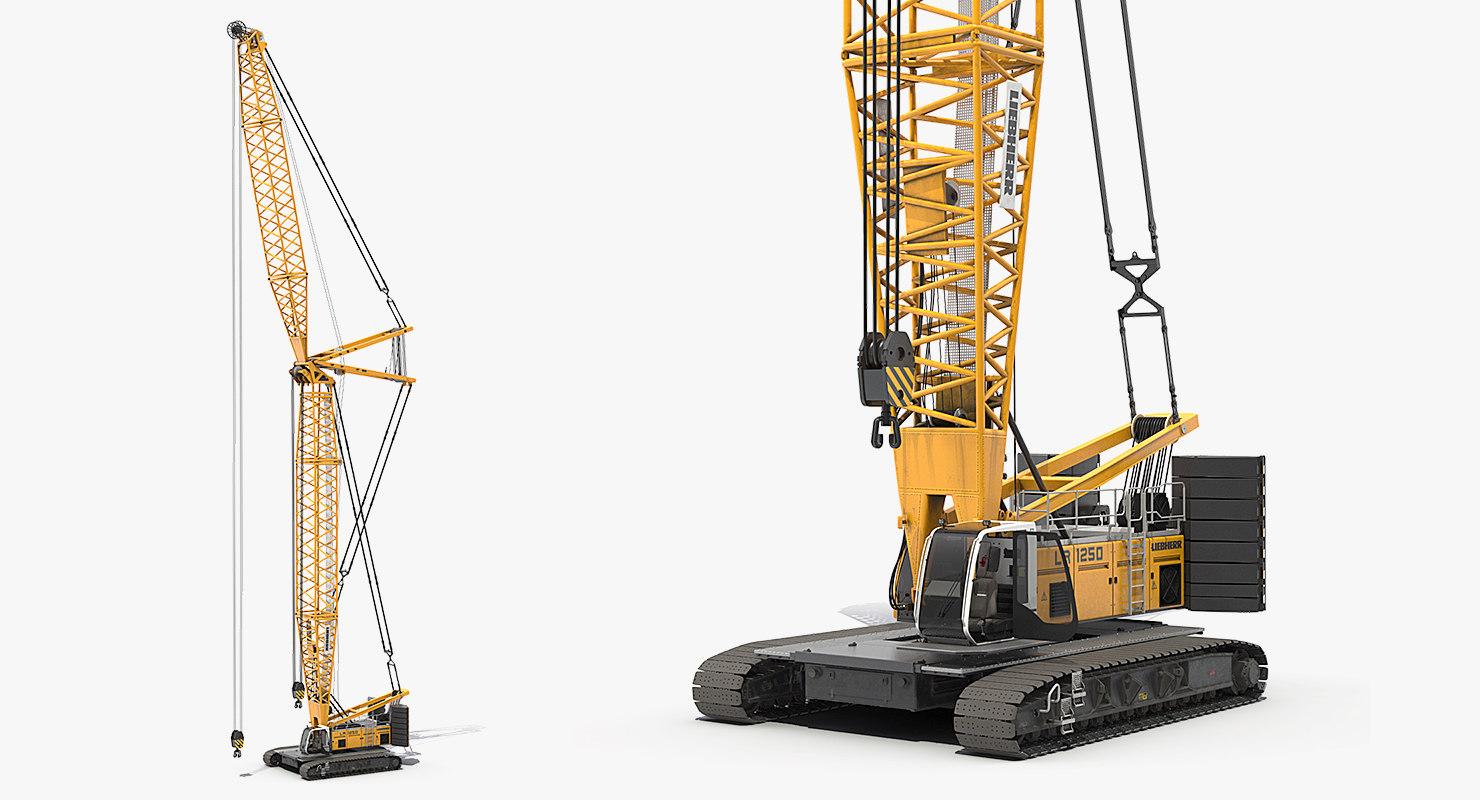 Liebherr LR1250 Crawler Crane Rigged