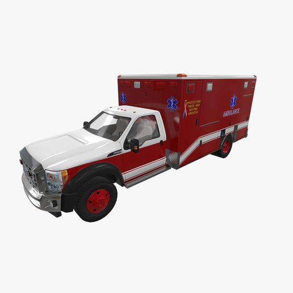 ambulance f-550 3D model