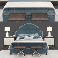 3D lindsey upholstered bed model