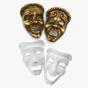 3D model theater masks