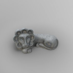 sculpture lion 3D model