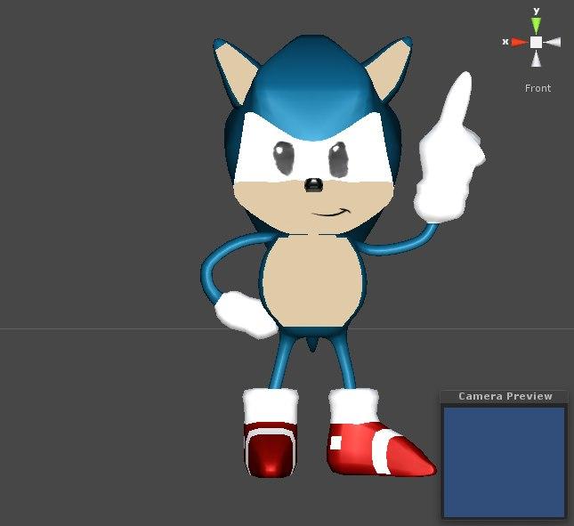 3D model sonic hedgehog