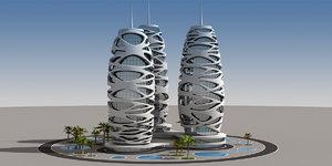 3D originally modern building model
