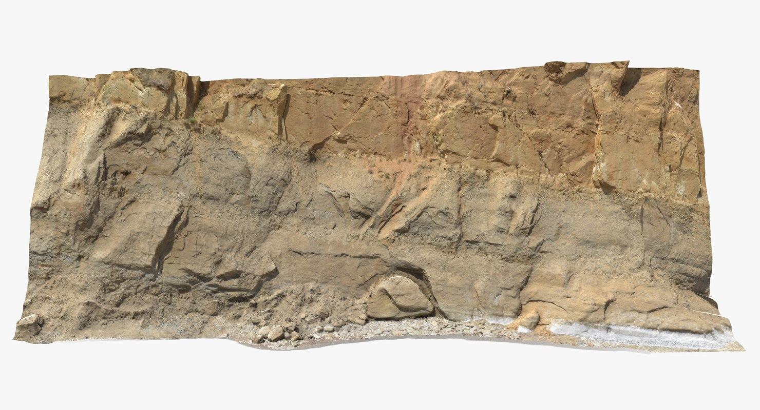 sandstone cliff 3D model