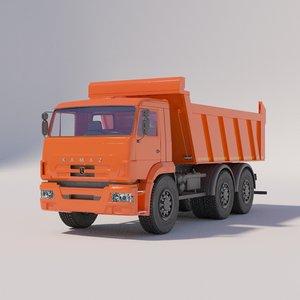 3D model kamaz dump truck