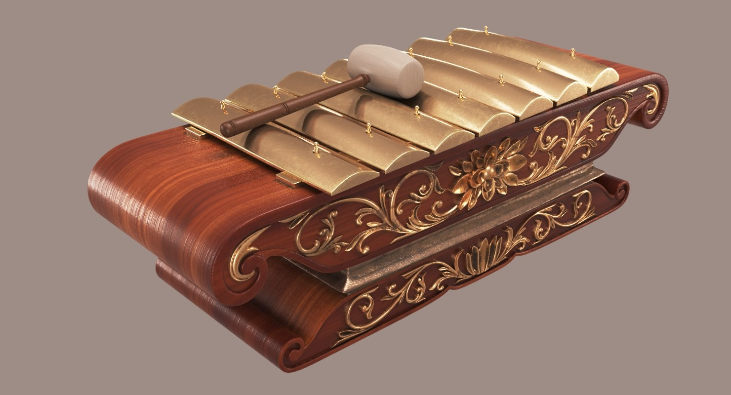3D gamelan saron model