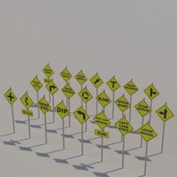 Yellow Street signs
