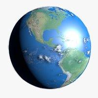 3D earth terra clouds