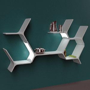 3D model modules shelves