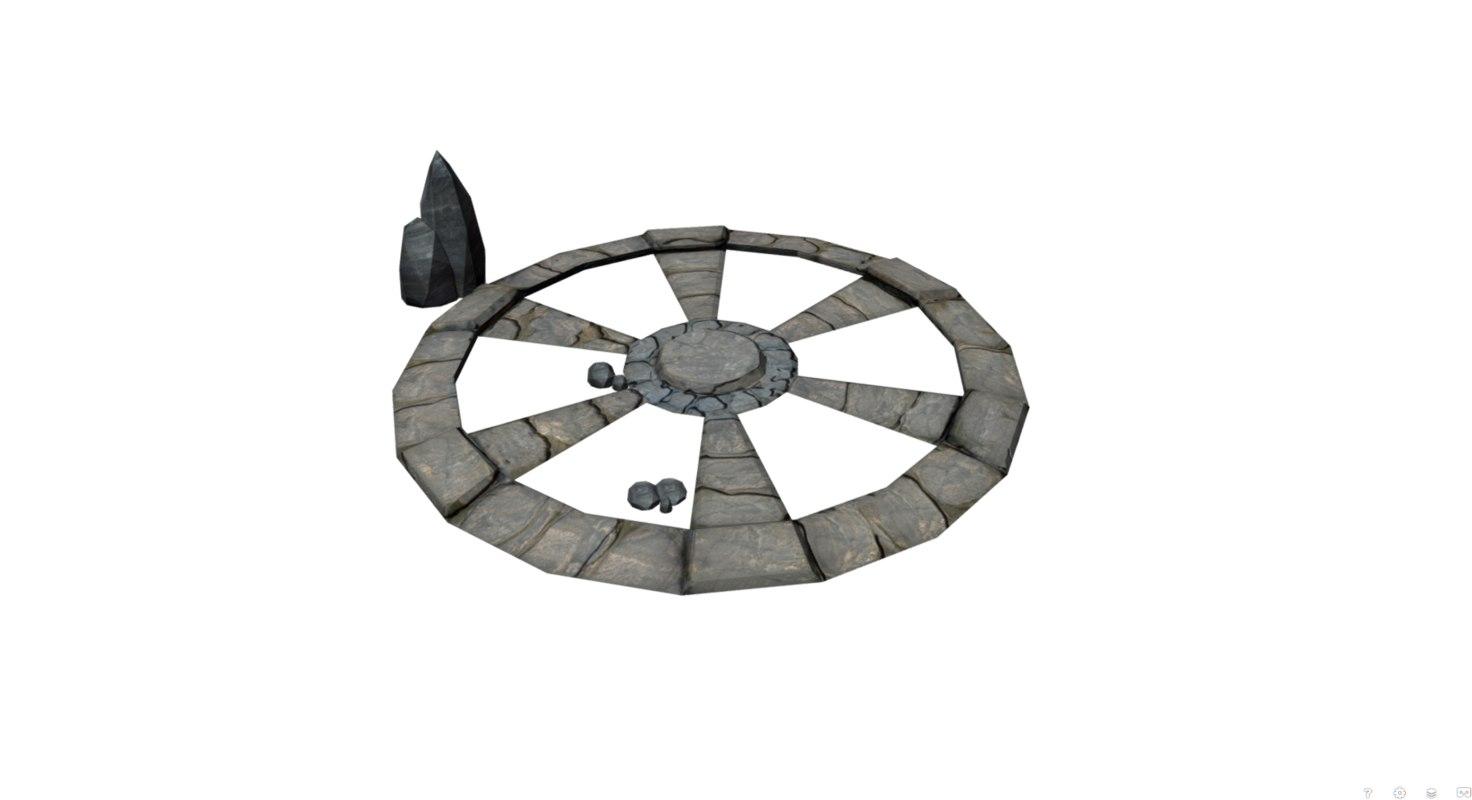 stone circle 3D model