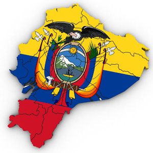 3D ecuador political model
