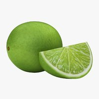realistic small lime 04 3D model