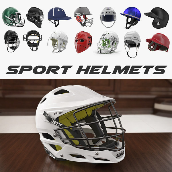 sport helmets 3 model