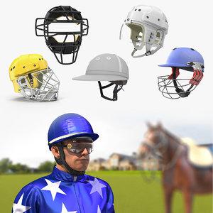 sport helmets 4 3D