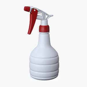3D trigger spray bottle model