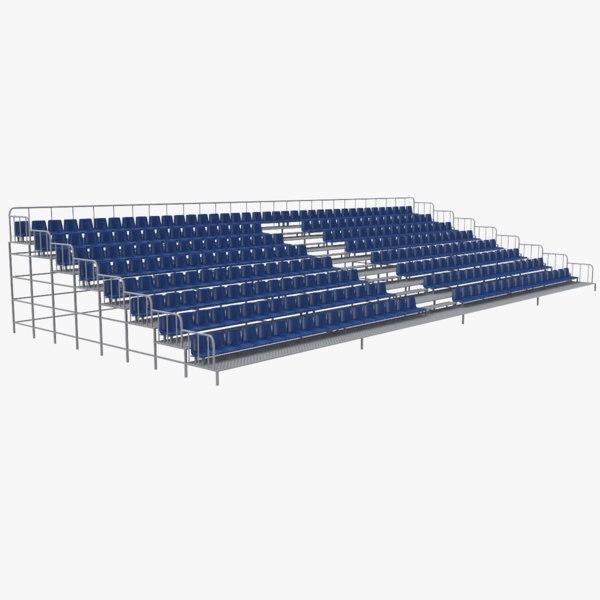 3D model stadium bleacher