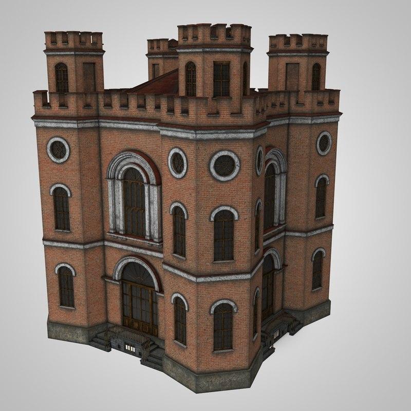 historic building gothic model