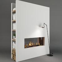 3D fireplace decor model