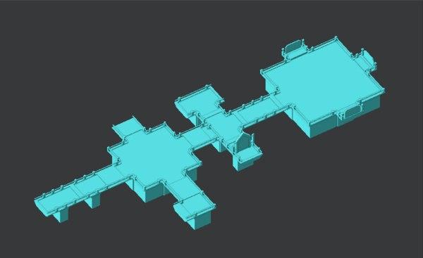platform 3D model