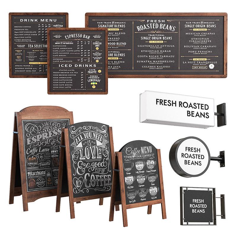 cafe advertising 3D model