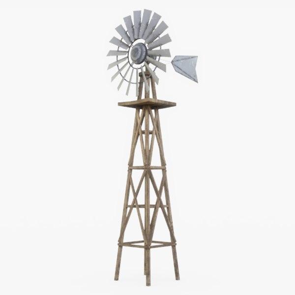 farm windmill wind 3D model